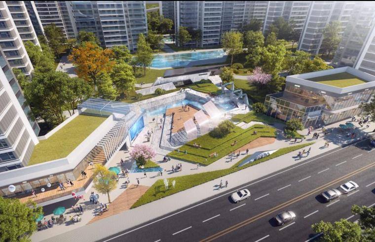 [云南]滨江邻里社区居住区规划建筑方案-邻里中心