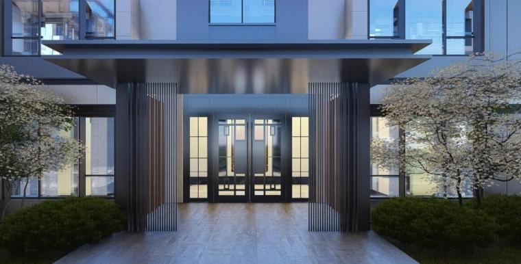 [山东]青岛新中式风格生态区豪宅建筑方案-效果图11