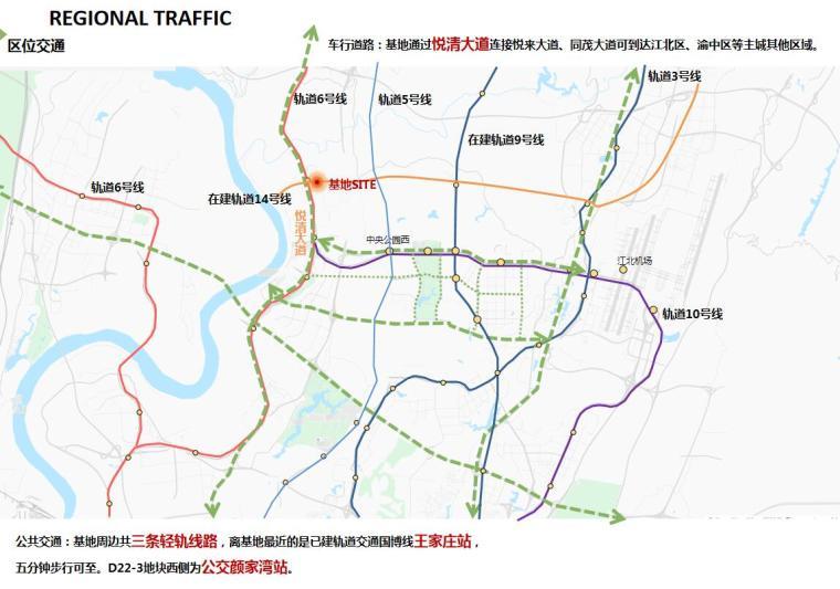 [重庆]两江新区新中式山地住宅投标方案-区位交通