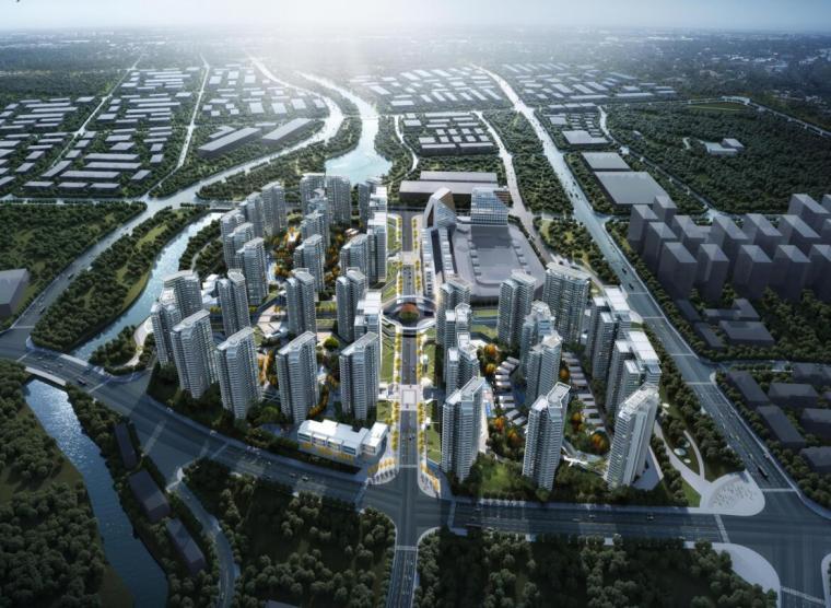 [云南]生态环串联居住区建筑方案设计竞赛-01 鸟瞰图