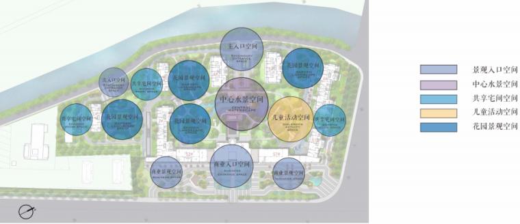 [南京]某现代轻奢高档住宅景观方案设计-功能分区
