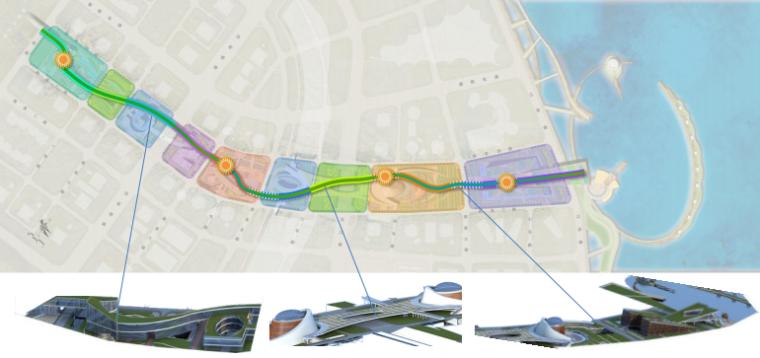 [浙江]温州滨江商务区中央绿轴景观设计-漫步走廊