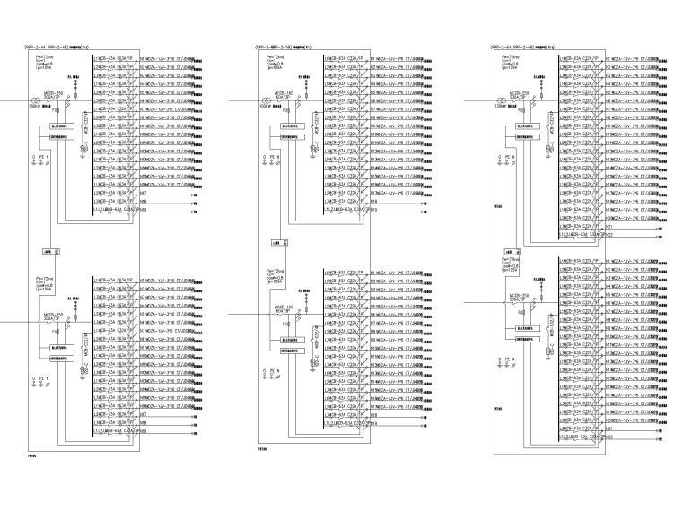 [上海]某银行征信中心装修工程电气施工图-6配电系统图
