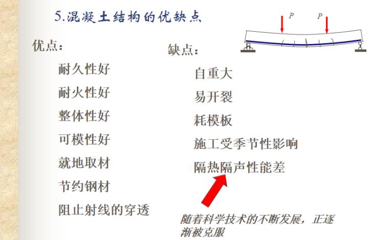 混凝土结构基本原理讲义PPT-05 混凝土结构的优缺点