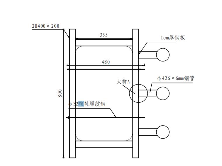 [浙江]跨海大桥通航孔技术方案及相关图纸-水平纤维系统平面图
