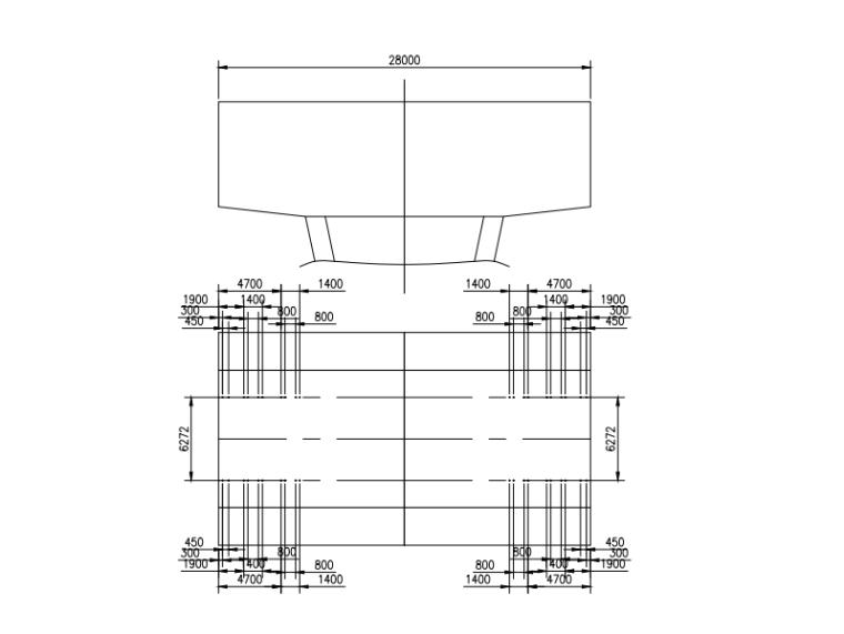 [浙江]跨海大桥通航孔技术方案及相关图纸-通航孔墩顶预埋点