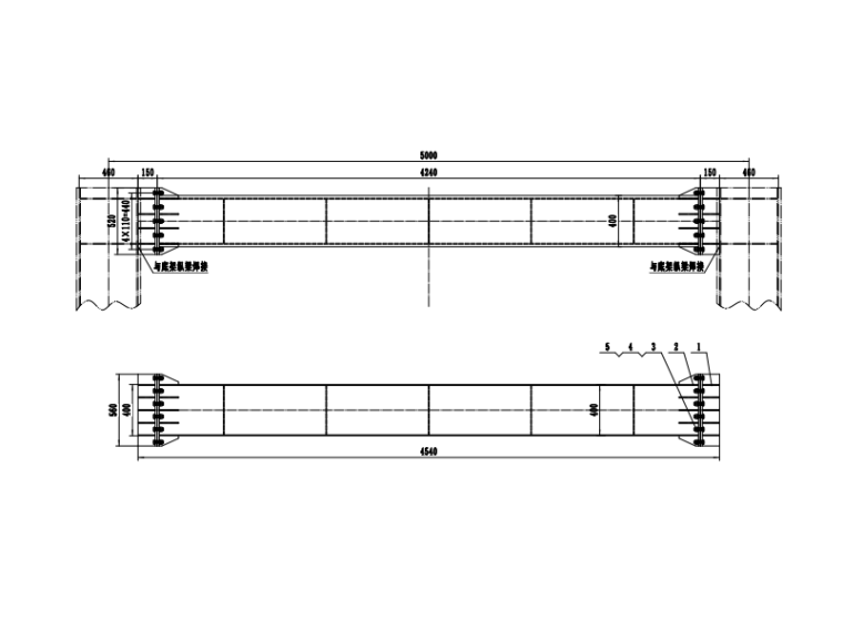 [浙江]跨海大桥通航孔技术方案及相关图纸-横连接梁示意图