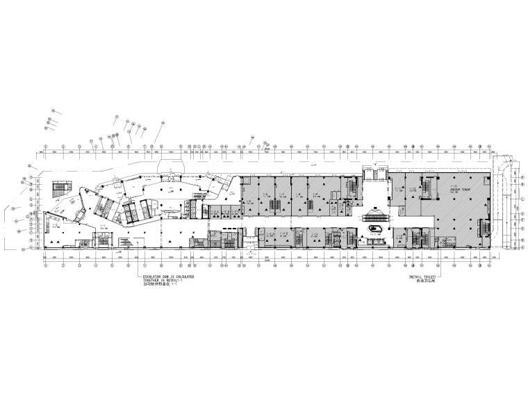 [北京]三里屯通盈中心1~2F商场内装施工图-一层范围图