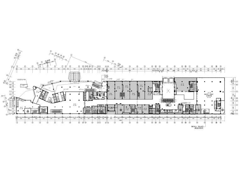 [北京]三里屯通盈中心1~2F商场内装施工图-二层范围图