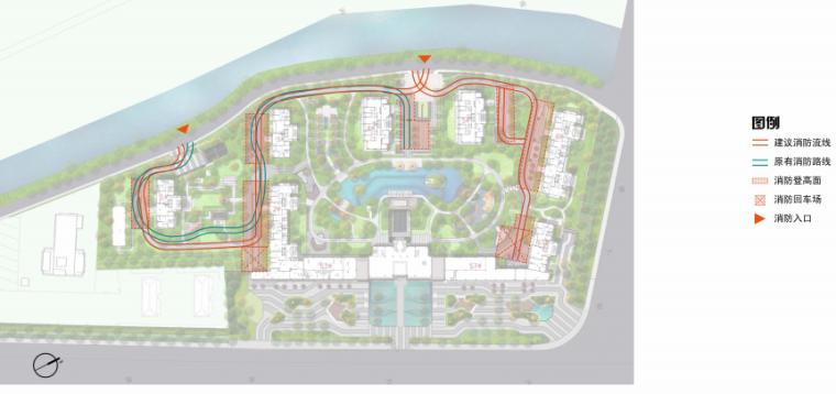 [南京]某现代轻奢高档住宅景观方案设计-消防分析