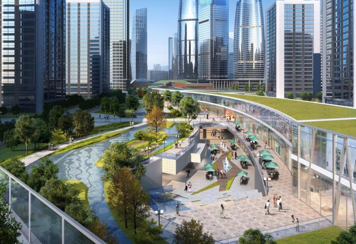 [浙江]温州滨江商务区中央绿轴景观设计-滑板主题公园