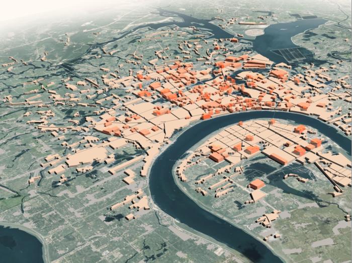 常德市总体城市设计规划文本2018_中规-概念鸟瞰图