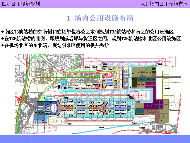 北京某机场设计简介PPT(116页)-场内公用设施布局