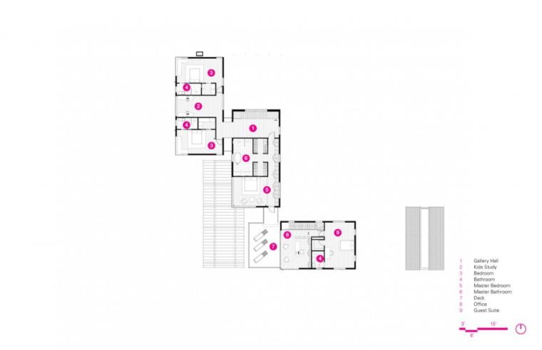 芝加哥滨水双层住宅平面图 (1)