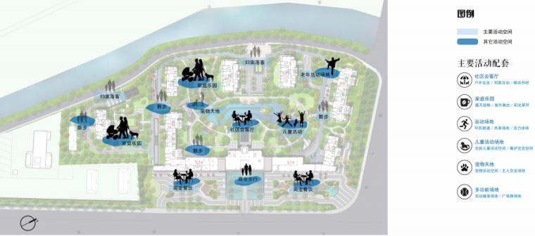 [南京]某现代轻奢高档住宅景观方案设计-活动分析