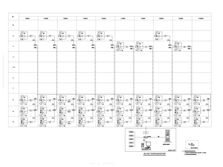 深圳知名商业中心电气图纸(办公裙房住宅)-建筑设备监控系统图_副本