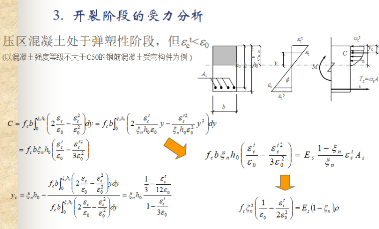 受弯构件正截面性能与计算讲义PPT-09 开裂阶段的受力分析