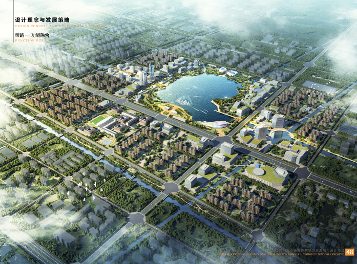 盐城智尚汽车小镇整体解决方案城市设计2018-鸟瞰图2