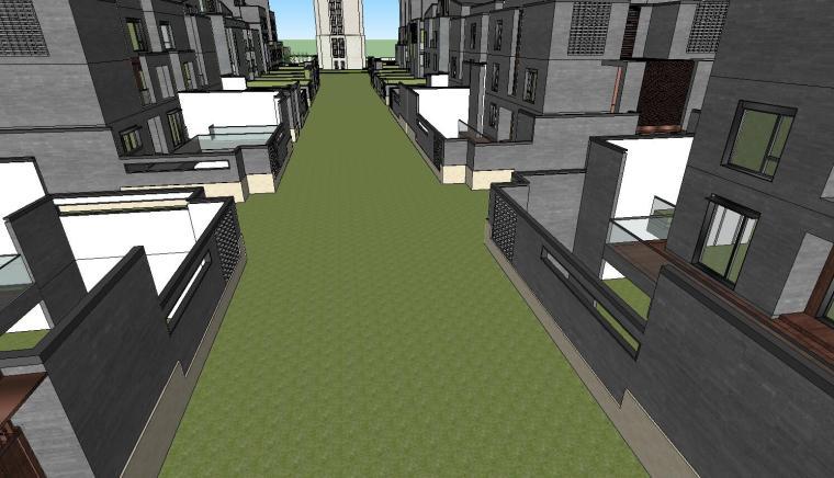 郑地美景东望住宅整体建筑模型设计 (3)