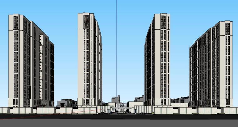 郑地美景东望住宅整体建筑模型设计 (1)