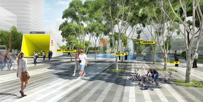 [武汉]某街区核心绿轴街道景观设计-ATKINS-主题活力广场