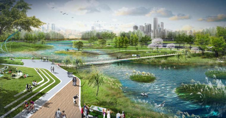 [四川]成都天府中央公园概念方案设计SWA-湿地公园