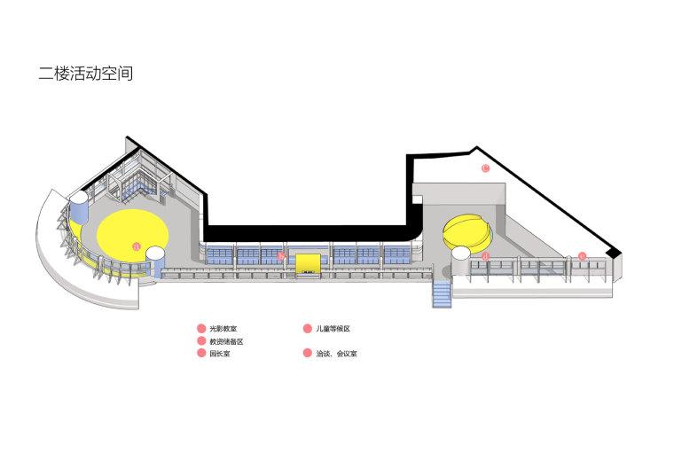 卓英国际幼儿学院二楼活动空间图