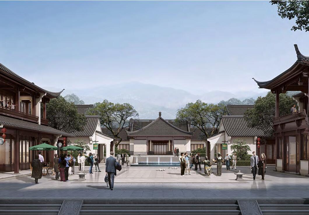 知名企业特色莲花小镇规划建筑方案设计