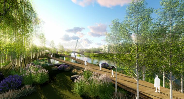 [山东]烟台黄金河河滨公园景观方案设计-湿地水生活体验区
