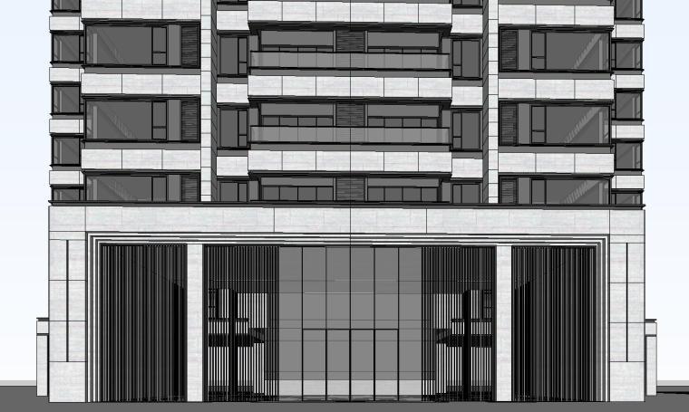 重庆某现代高层住宅建筑模型设计 (1)