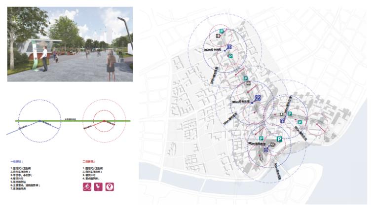 [武汉]某街区核心绿轴街道景观设计-ATKINS-服务配套设施