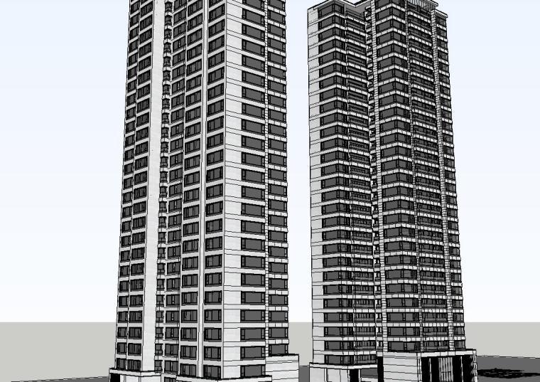 重庆某现代高层住宅建筑模型设计 (4)