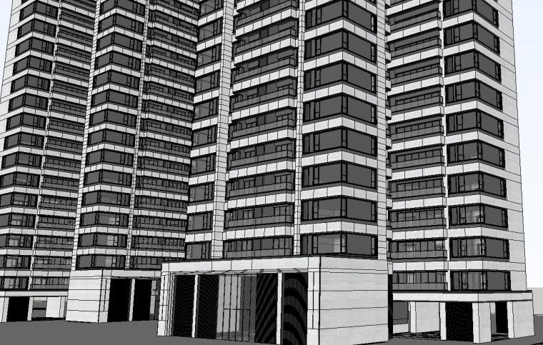 重庆某现代高层住宅建筑模型设计 (5)