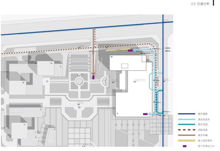 [山东]青岛现代风格酒店方案设计-交通分析