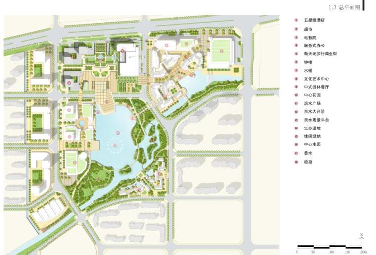 [山东]青岛现代风格酒店方案设计-总平面图