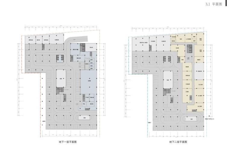 [山东]青岛现代风格酒店方案设计-平面图1