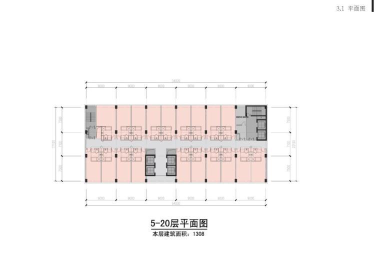 [山东]青岛现代风格酒店方案设计-平面图2