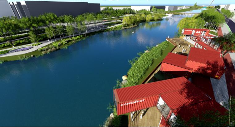 [山东]烟台黄金河河滨公园景观方案设计-运动时尚