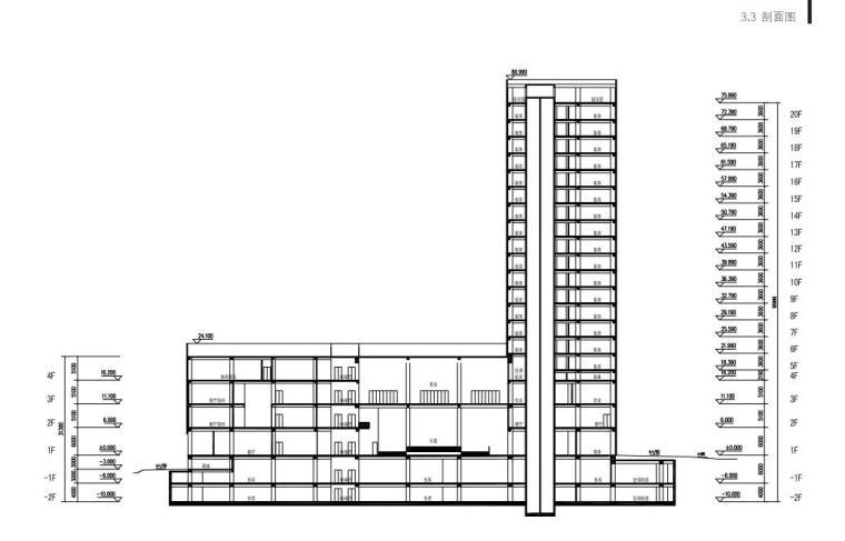 [山东]青岛现代风格酒店方案设计-剖面图