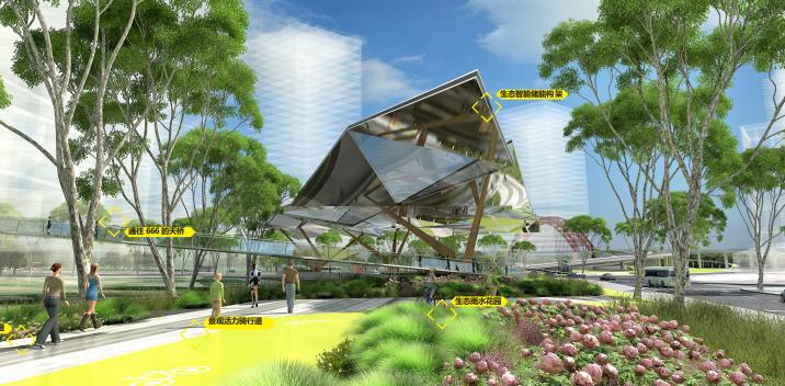 [武汉]某街区核心绿轴街道景观设计-ATKINS-艺术微花园