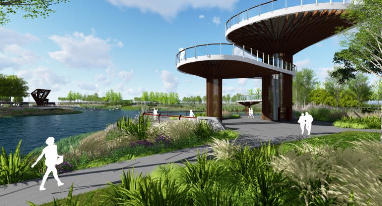 [山东]烟台黄金河河滨公园景观方案设计-浪漫新生活体验区