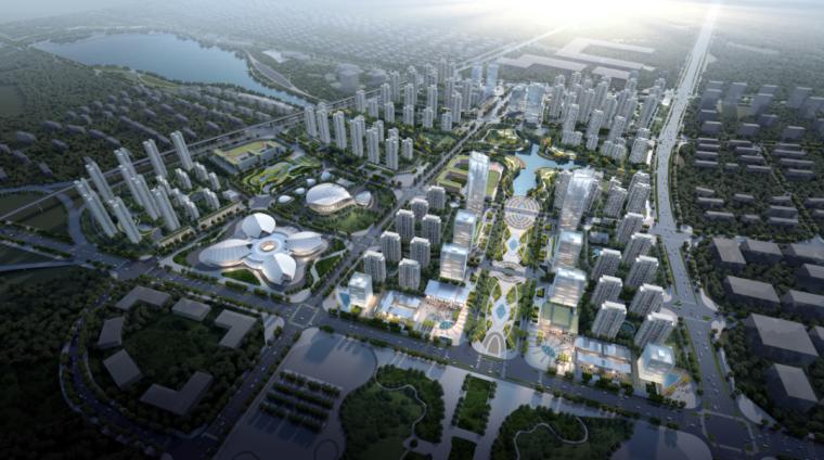 绿地湘江城际空间站展示中心外部效果图 (1)