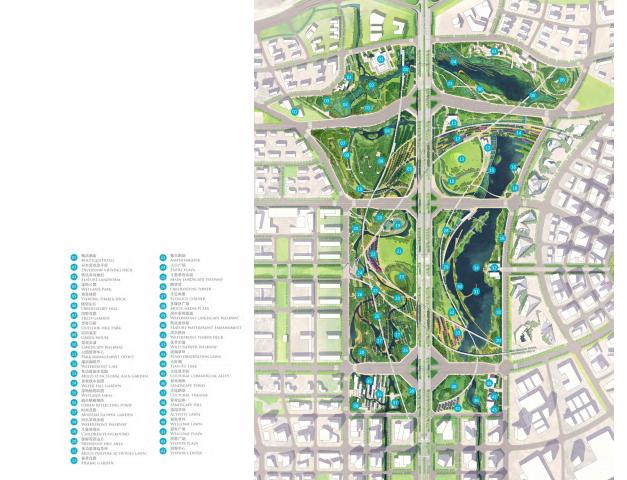 [四川]成都天府中央公园概念方案设计SWA-景观总平面图