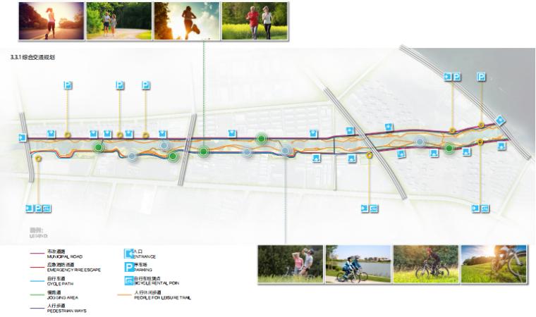 [山东]烟台黄金河河滨公园景观方案设计-综合交通分析