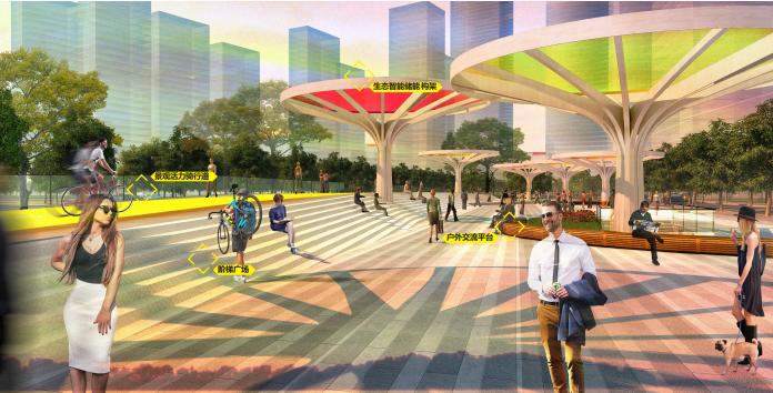 [武汉]某街区核心绿轴街道景观设计-ATKINS-主题广场