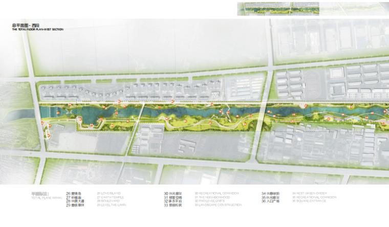 [山东]烟台黄金河河滨公园景观方案设计-西岸总平面图