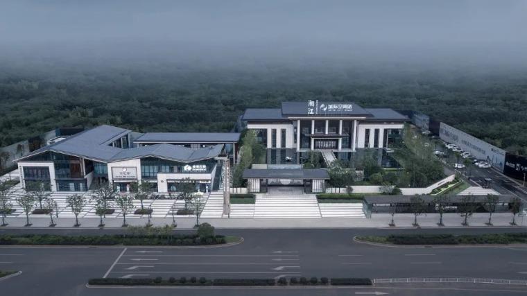 绿地湘江城际空间站展示中心外部效果图 (5)