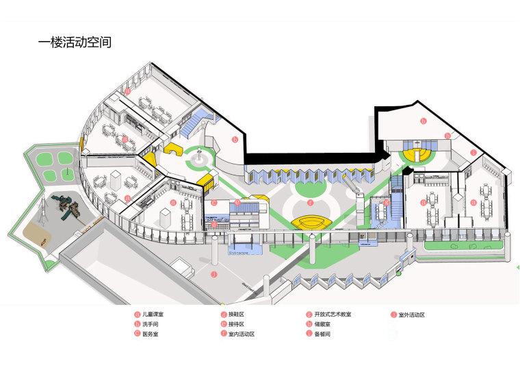 卓英国际幼儿学院一楼活动空间图