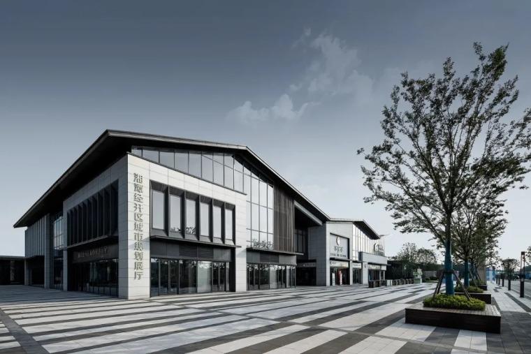 绿地湘江城际空间站展示中心外部效果图 (11)