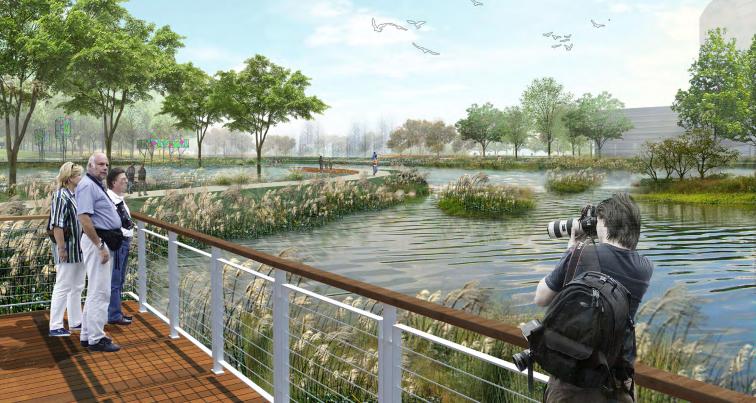 [四川]成都天府中央公园概念方案设计SWA-景观平台